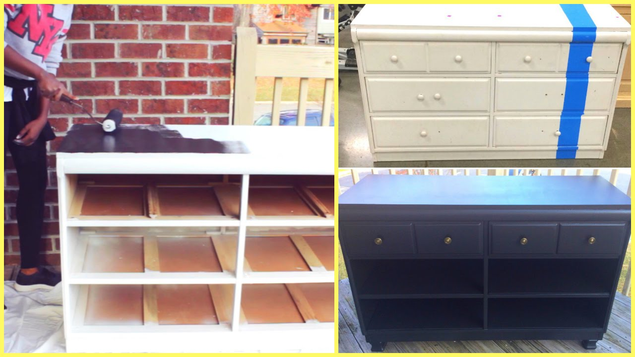 Genial DIY   Furniture Makeover!!!   YouTube