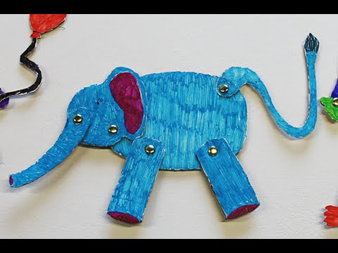 How to Make a Paper Elephant - art and craft project for kids