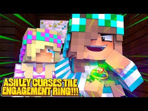 Minecraft DONNY'S CRAZY EX GIRLFRIEND PUTS A DARK CURSE LEAH'S ENGAGEMENT RING!!!