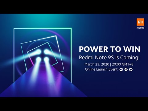 Redmi Note 9S Online Launch Event