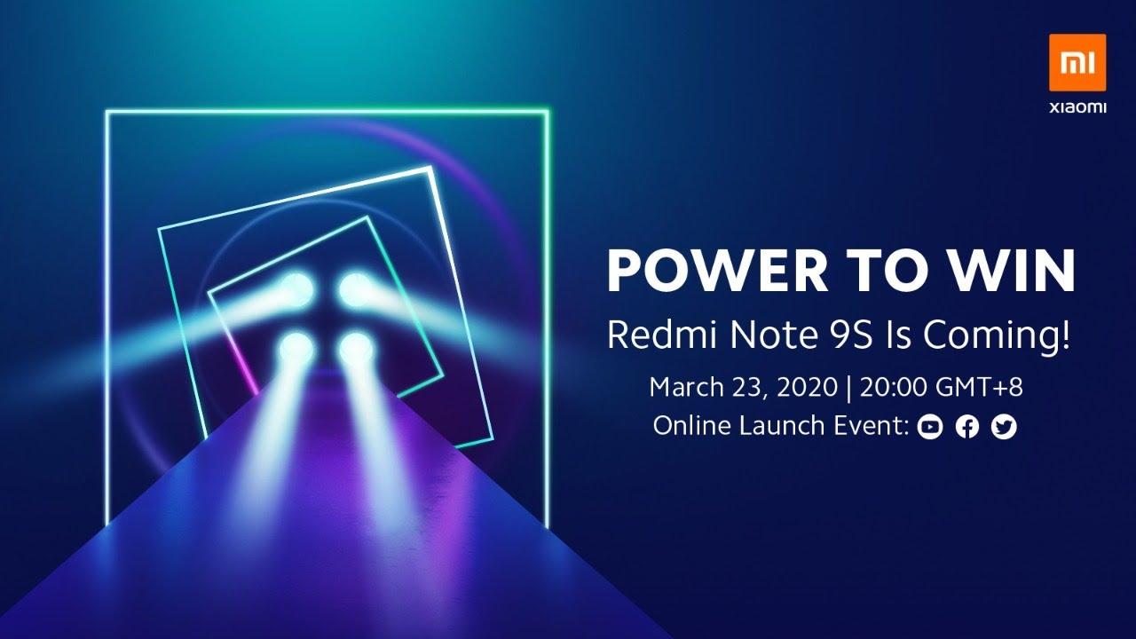 Redmi Note 9S Online Launch Event