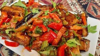 ПАЛЬЧИКИ ОБЛИЖЕШЬ:Салат с баклажанами и сельдереем -Ани Кухня!