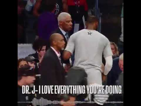 LeBron James shows love for the NBA LEGENDS at the All-Star Game!