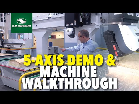 5-Axis CNC Router - Plywood Machining Demo & Machine Walkthrough - The S-Series by C.R. Onsrud
