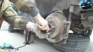 chery Tiggo FL / замена колодок,подтяжка ручника, направляющие суппорта
