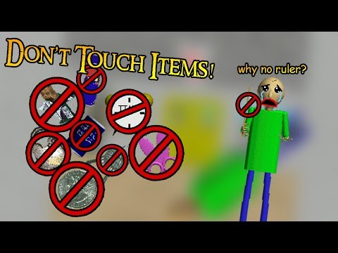 I CAN'T BEAT BUT DON'T TOUCH ITEMS! | Baldi's Basics: No Collecting Items [Baldi's Basics Mod]
