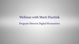 'Digital Humanities at Brill' Recorded Webinar by Marti Huetink