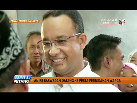 Anies Baswedan Hadiri Pernikahan Warga Jakut