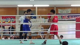 H30 国体北信越大会 成年 LW級 勝二和宏 対 佐々木光大 ボクシング