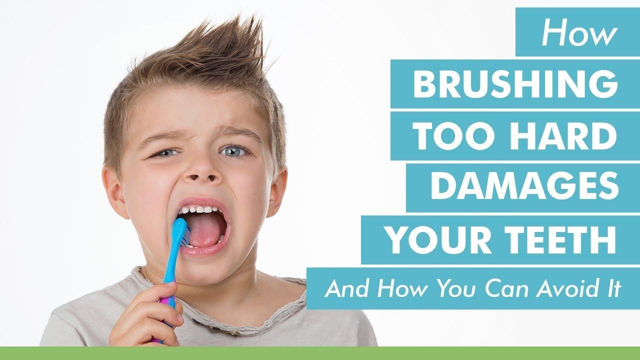 Avoid Brushing too Hard in Child Dental care