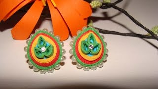 Quilling stud earrings new
