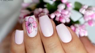 Бабочка на ногтях 🦋 - простой летний маникюр гель-лаком.
