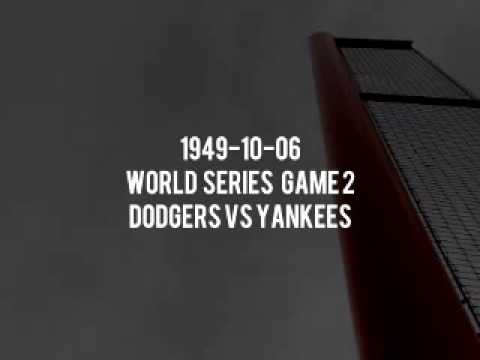 1949 10 06 World Series Game 2 Yankees vs Dodgers (Mel Allen and Red Barber) Broadcast Radio
