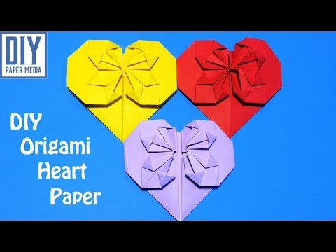 How to make heart paper | DIY origami heart folding with paper | Paper crafts tutorials
