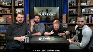 Friday Night Paper Fight — 4 Player Chaos Winston Draft
