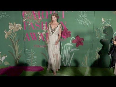 Toni Garrn, Elsa Hosk and more at the Green Carpet Fashion Awards in Milan
