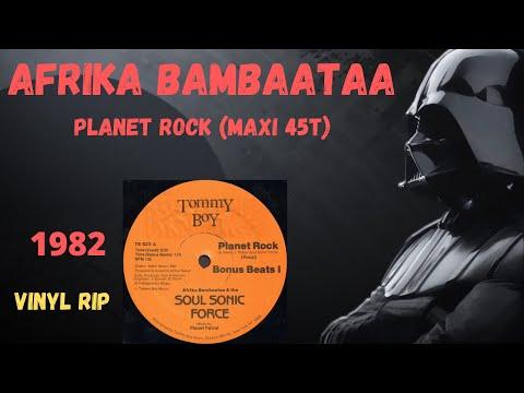 Afrika Bambaataa & The Soul Sonic Force - Planet Rock (1982) (Maxi 45T)