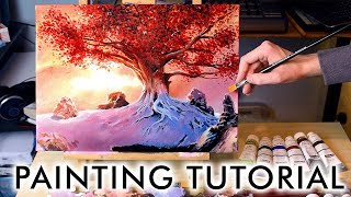 【Acrylic Painting Tutorial】Game of Thrones Tree for Beginners