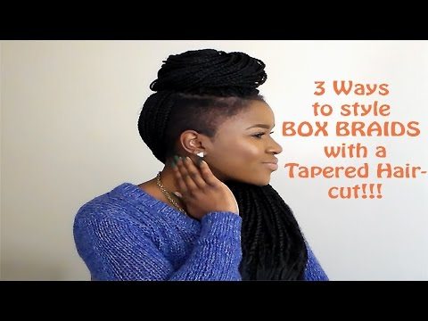 How To Style BOX BRAIDS With A TAPERED Haircut Mona B