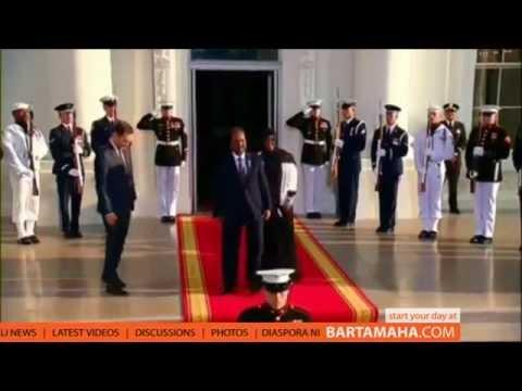 Somalia President arrives at the White House dinner hosted by President Obama