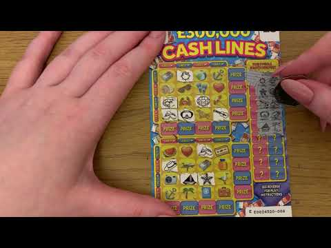 Cash lines 3 Pound 4 In A Row Style Scratch Cards, £300,000 Jackpot, New Card For 2020