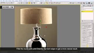 3ds max Моделирование настольной лампы