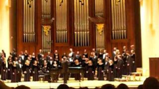 Baylor A Cappella Choir sings He, watching over Israel  Blessed are the men who fear Him by Mendelssohn