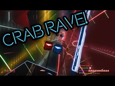 Actually playing Crab Rave in Beat Saber (Full Combo)