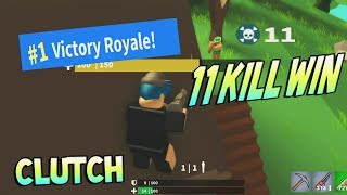 11 KILL WIN? AMAZING CLUTCH! [Island Royale ROBLOX]