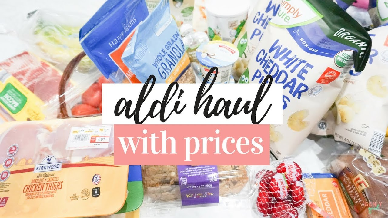 ALDI HAUL 2019 WITH PRICES | $70 TOTAL FOR THE WEEK ✨