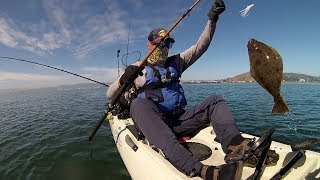 Almost Didn't Make it Out Kayak Fishing Oyster Point, CA For Halibut