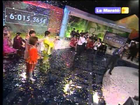 LA MARATO de TV3.Thelethon TV program. Confetti event made with Superflow machine