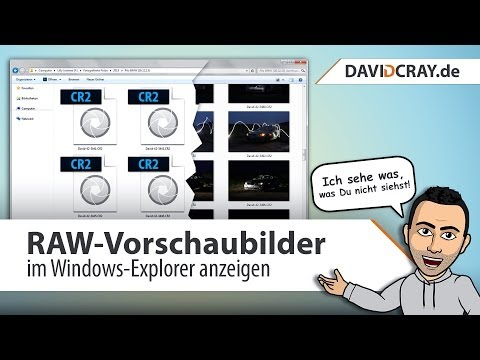 [HD] Windows Tutorial : RAW-Vorschaubilder In Windows 7/8 Anzeigen [deutsch]
