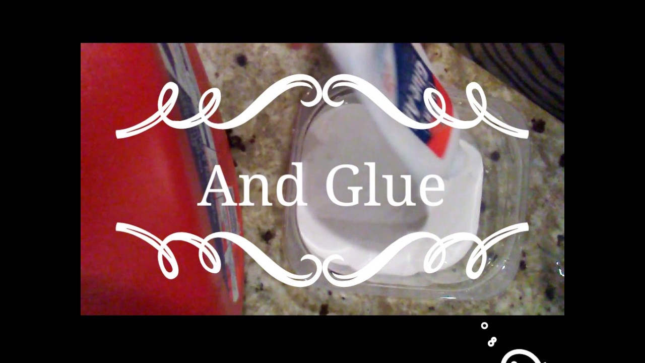 how to make slime with 2 ingredients with glue