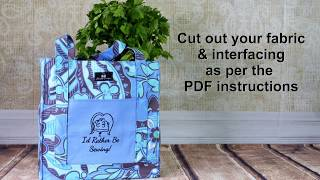 Grocery Tote Bag Free Pattern Tutorial - I'd Rather Be Sewing