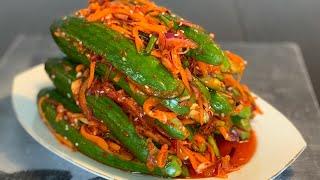 Kim chi dưa leo_ cách làm kim chi dưa leo chuẩn vị Hàn_Bếp Hoa