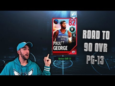 ROAD TO 90 OVR PAUL GEORGE! BALLING ON A BUDGET IN NBA LIVE MOBILE!!