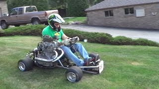 EPIC! 500cc Homemade Shifter Kart Death Trap