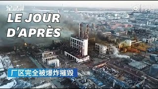 Après l'explosion d'une usine chimique en Chine, les images de désolation