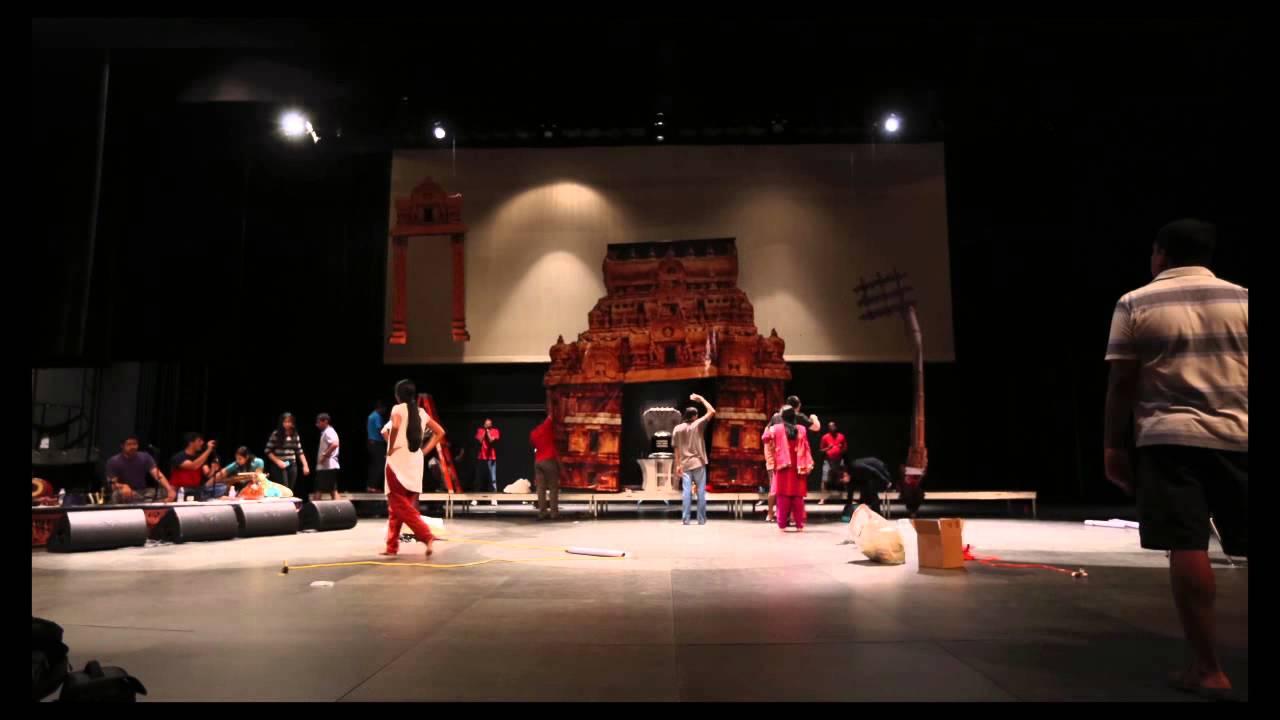 Bhavana ramesh arangetram backdrop setup youtube for Arangetram decoration ideas