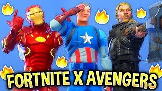 I recreated SuperHero Skins in Fortnite and they looked amazing..! FORTNITE X AVENGERS