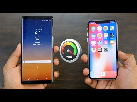 iPhone X Vs Note 8 Speedtest | Interesting Battle Of Flagships⚔️