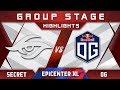 Secret vs OG EPICENTER XL Major 2018 Highlights Dota 2