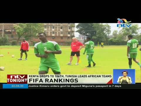 Kenya drops to 106th, Tunisia leads African teams in latest FIFA ranking