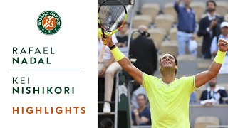 Rafael Nadal vs Kei Nishikori - Quarterfinals Highlights | Roland-Garros 2019