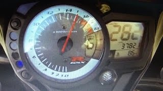 SUZUKI GSXR 600 K9 TOP SPEED 0-285 KM HD! (11:30-285km)