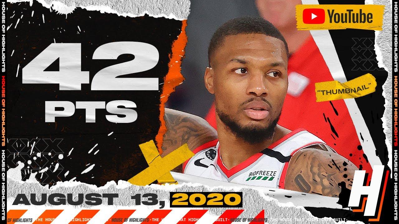 Damian Lillard UNREAL 42 Points 12 Ast Full Highlights   Blazers vs Nets   August 13, 2020
