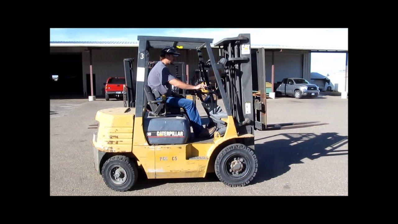 Four Way Side Loader Forklift Mitsubishi Rbm2025k Series: 1997 Caterpillar GP25 Forklift For Sale