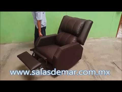 Sill n reclinable con motor tapizado en tactopiel salas for Sillon reclinable