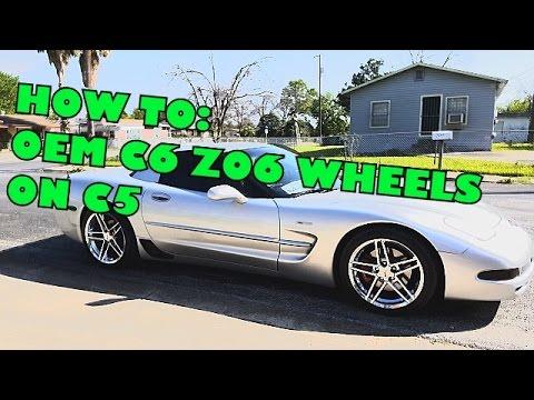 How To Oem C6 Z06 Wheels On C5 Corvette Z06 Hd Youtube